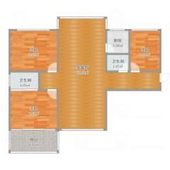 (桥西区)麒麟湾3室2厅2卫128m²精装修