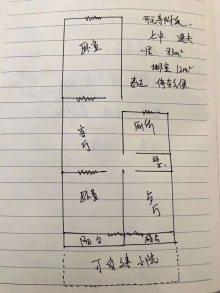 邢台市桥东区红星东街幸福小区一层,逸夫,七中房两居83m²简单装