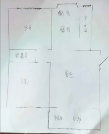 邢台市信都区中桥家园,中北世纪城附近,大两居带车库,毛坯房